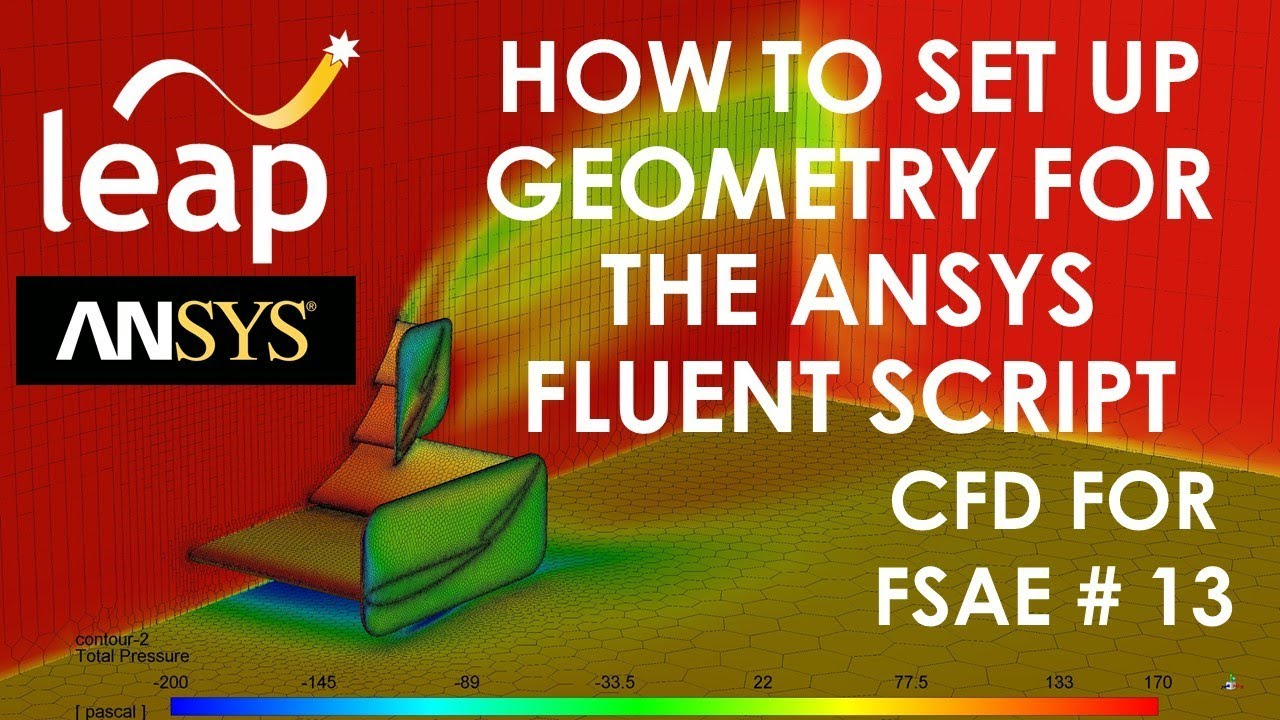 How to set up geometry for the ANSYS Fluent script-CFD for FSAE #13