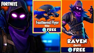 "HOW TO GET ""RAVEN"" SKIN + FEATHERED FLYER FREE! - FORTNITE BATTLE ROYALE NEW SKIN UPDATE! (New Skin)"