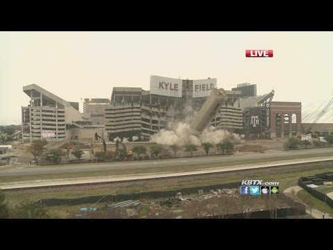 Kyle Field Implosion - KBTX Live Coverage