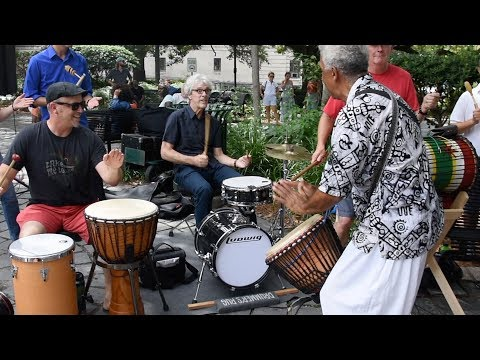 Stewart Copeland jamming at Congo Square
