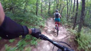 mountain biking downhill & getting rowdy on Bigrock mtb trail dupont state forest