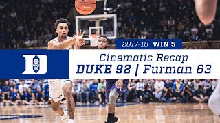 Win 5 | Cinematic Recap: Duke 92, Furman 63 (11/20/17)