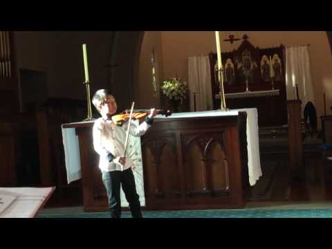 Bach Violin Partita No.3 in E Major, BWV 1006 ( II Loure) - Christian Li (9 yrs)