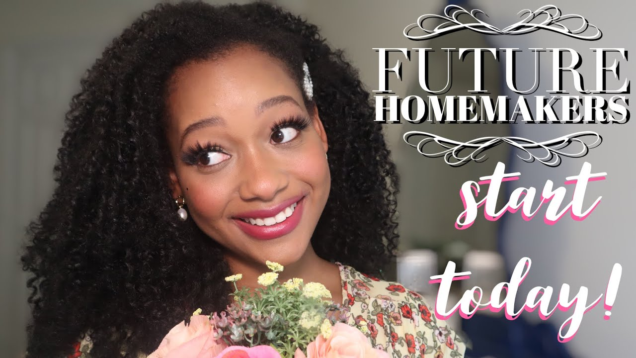 FUTURE HOMEMAKER practice Homemaking TODAY!🏡 Habits to Start BEFORE you're married! Black Homemaker