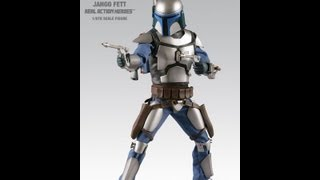Star Wars 12 Inch Jango Fett Real Action Heroes HD Figure Review | www.flyguy.net