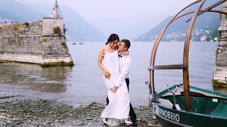 Православное венчание на озере Комо, Италия
