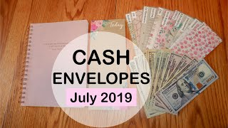 Stuffing my CASH ENVELOPES July 2019 | Dave Ramsey Inspired | Budget with me