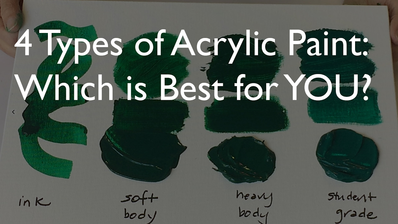 4 types of acrylic paint which is best for you youtube for Types of acrylic paint
