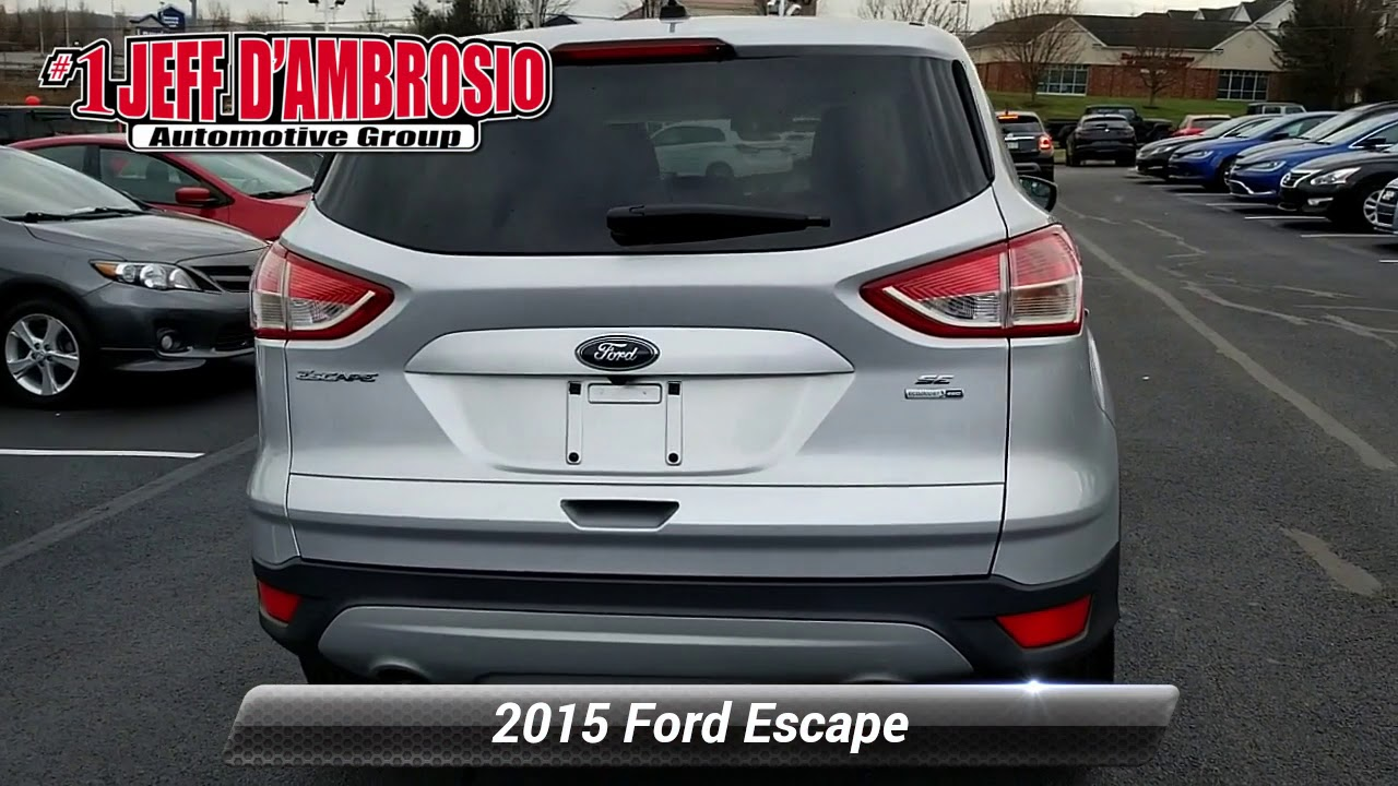 Jeff D Ambrosio Jeep >> Used 2015 Ford Escape SE, Downingtown, PA M190618A - YouTube