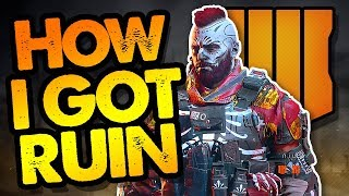 HOW I GOT RUIN Character on COD Black Ops 4 Blackout // PS4 Pro // Call of Duty