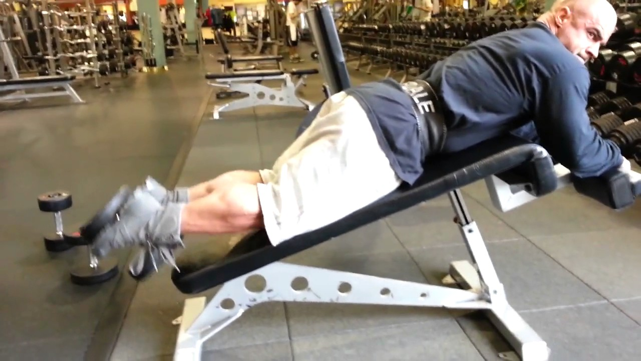 Dumbbell Hamstring Curl - YouTube