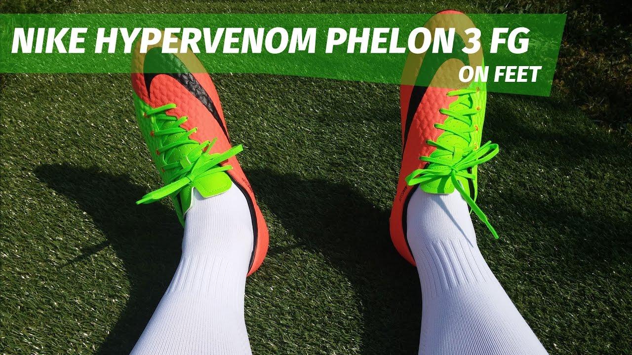 14d144cfe1db Nike Hypervenom Phelon 3 FG - on feet - YouTube