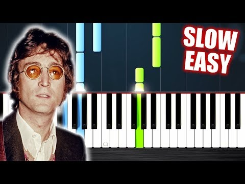 John Lennon - Imagine - SLOW EASY Piano Tutorial by PlutaX
