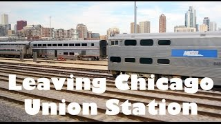 Leaving Chicago Union Station (HD)