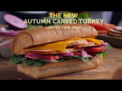 how to make a carved turkey subway sandwich