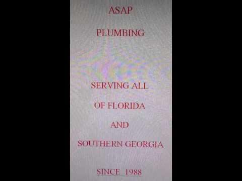 ASAP PLUMBING   JACKSONVILLE FLORIDA   904 346 1266