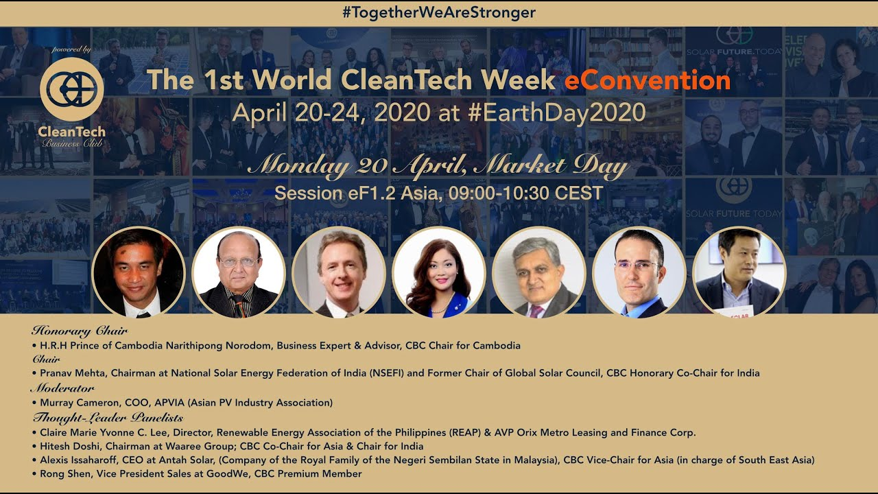 #Solar & #CleanTech Market in Asia at The 1st World CleanTech Week eConvention #1stWCWeC