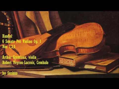 Handel, violin Sonata No 1,3,5,,Grumiaux