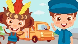 Canciones de TRANSPORTES. El autobús y otras músicas divertidas ♫ HD ☁️🦁☁️