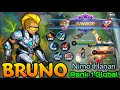 Bruno Perfect SAVAGE!! - Top 1 Global Bruno by Nimo : Hanan - Mobile Legends