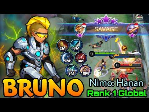Bruno Perfect SAVAGE!! – Top 1 Global Bruno by Nimo : Hanan – Mobile Legends