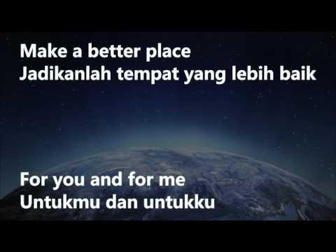 Michael Jackson-Heal the World indonesia lyric