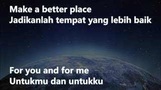 Gambar cover Michael Jackson-Heal the World indonesia lyric