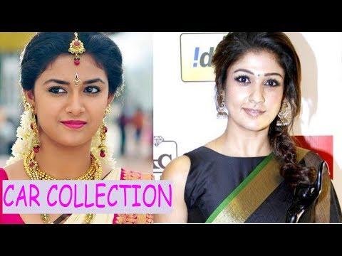 Tamil actress car collection  (part 1)  keerthi  suresh,  .nayanthara,  shruti hassan