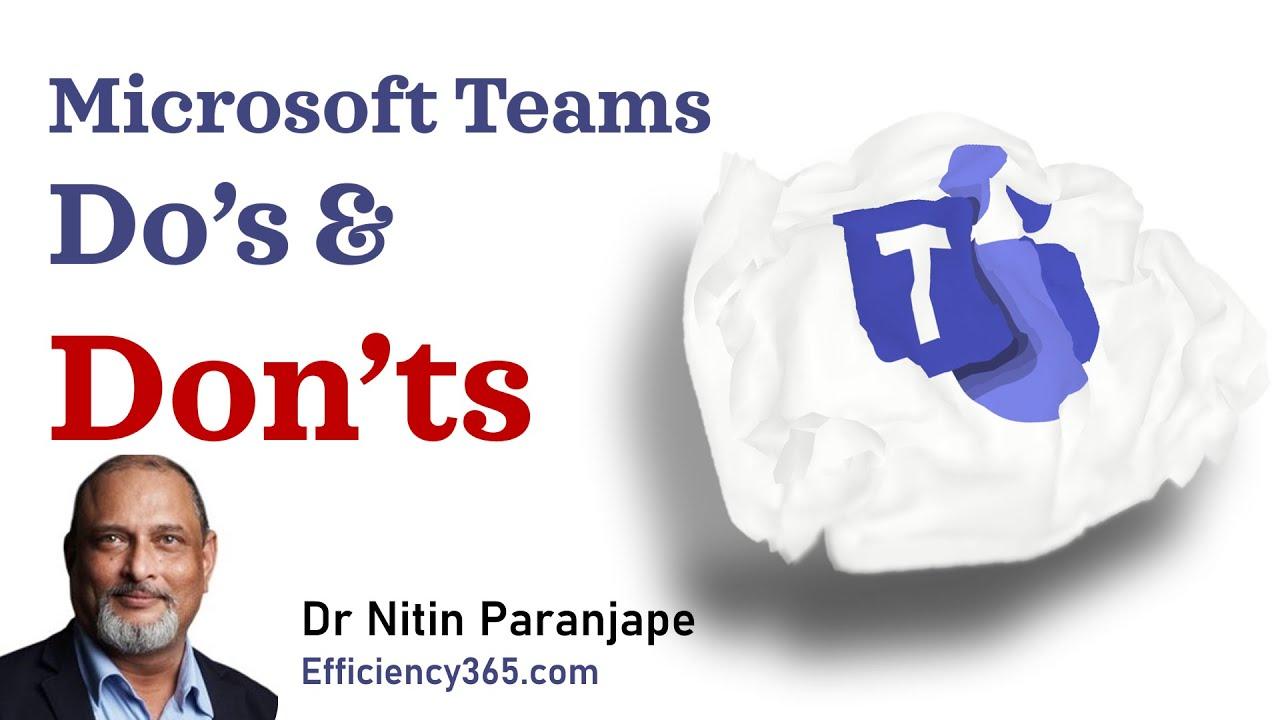 Microsoft Teams common mistakes -  Remote Working - Microsoft Teams meetings