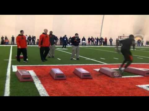 Rutgers Pro Day Footwork Drills