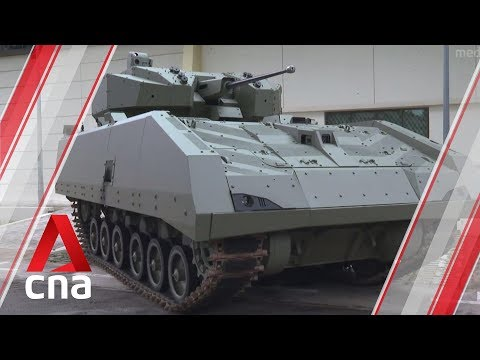 Singapore Army Unveils Its First Fully-digitalised Armoured Fighting Vehicle