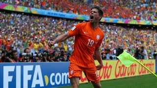 Klaas-Jan Huntelaar Penalty Kick Goal vs Mexico (World Cup 2014)