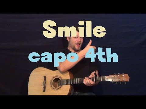 Smile (R5) Guitar Lesson - Easy How to Play Tutorial