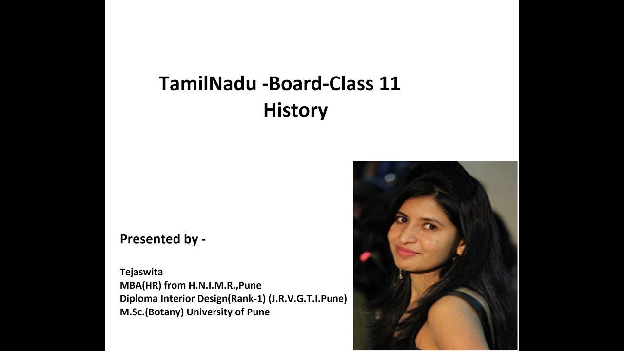 Tamilnadu Board Class 11 History Chapter 3