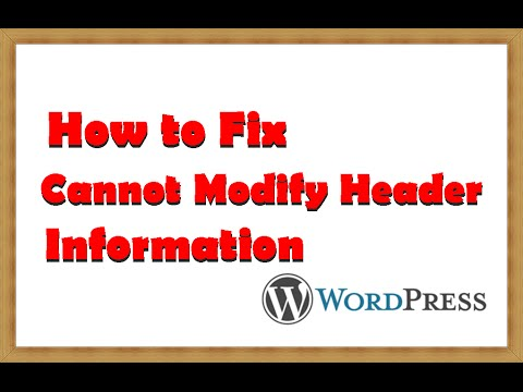 How to Fix Cannot Modify Header Information