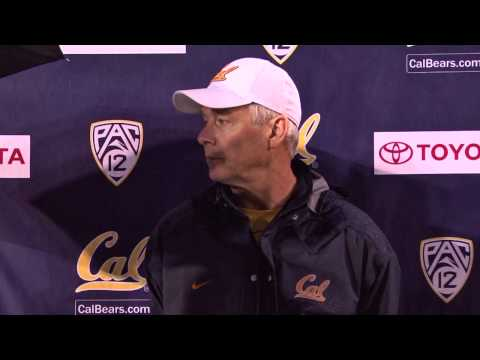Cal Football: DC Art Kaufman Post Practice (11/19/14)