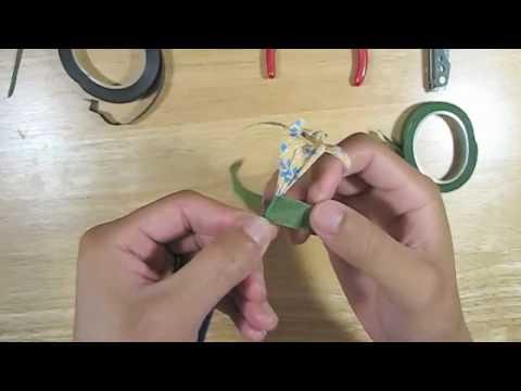 How to add stems to origami flowers youtube mightylinksfo
