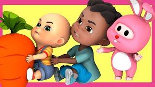 Let's Pull out the Big Carrot | for Kids | Nursery Rhymes | Kids Songs | Panda Cartoon | Jugnu Kids
