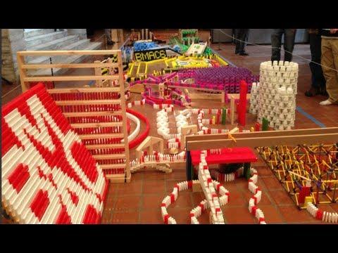 Brattleboro Domino Toppling 6 - 27,134 Dominoes!!!