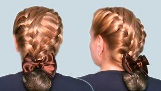 Прическа на Каждый День| на Работу| в Школу| Своими Руками Видео Урок (Hairstyle for every day) 2013