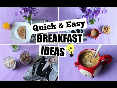 QUICK & EASY BREAKFAST IDEAS ❤ COFFEE AND CEREALS!