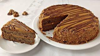 Кофейный торт с грецким орехом