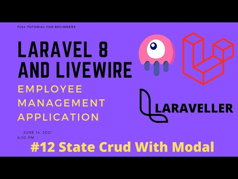 12 Laravel Livewire Tutorial - Employees Management Project - State Full Crud