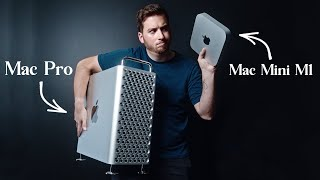 $700 Mac Mini M1 vs $9,000 Mac Pro | A Video Editors Reaction