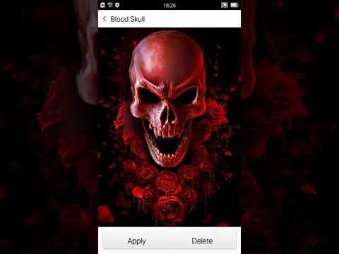 Red Blood Skull Live Wallpaper праграмы ў Google Play
