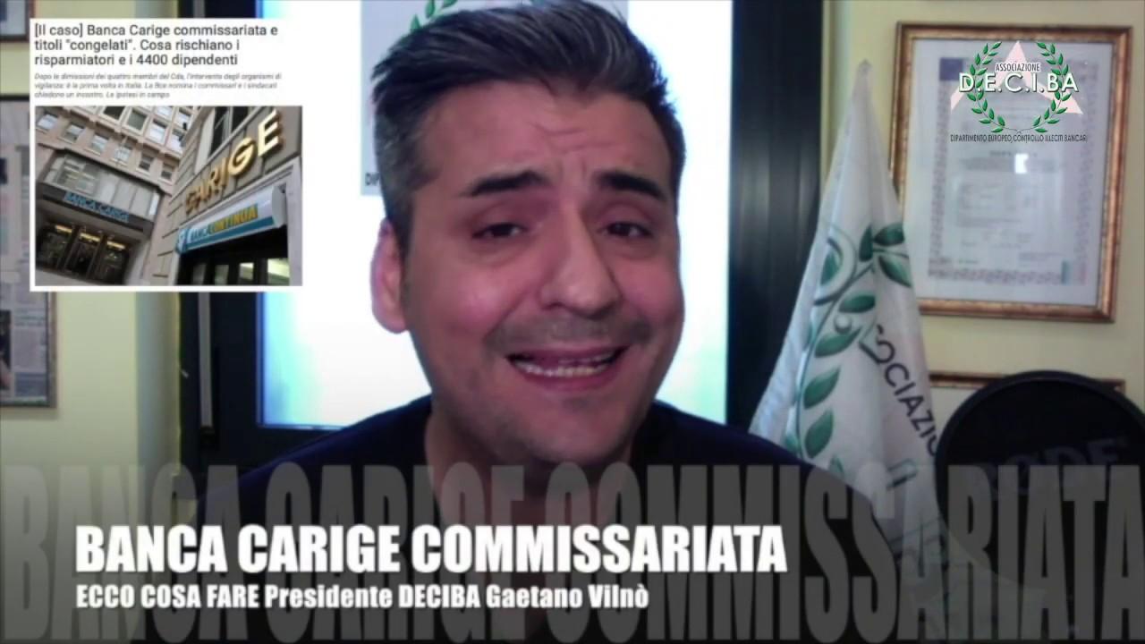 BANCA CARIGE COMMISSARIATA ATTENZIONE