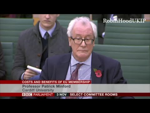 Prof Patrick Minford schools the idiots in Parliament about the EU and trade