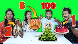 1 To 100 Food Eating Challenge | Hungry Birds