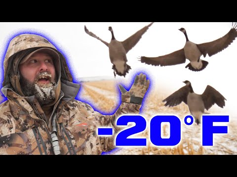 Sitka Gear Late Season Goose Hunting In EXTREME Conditions!
