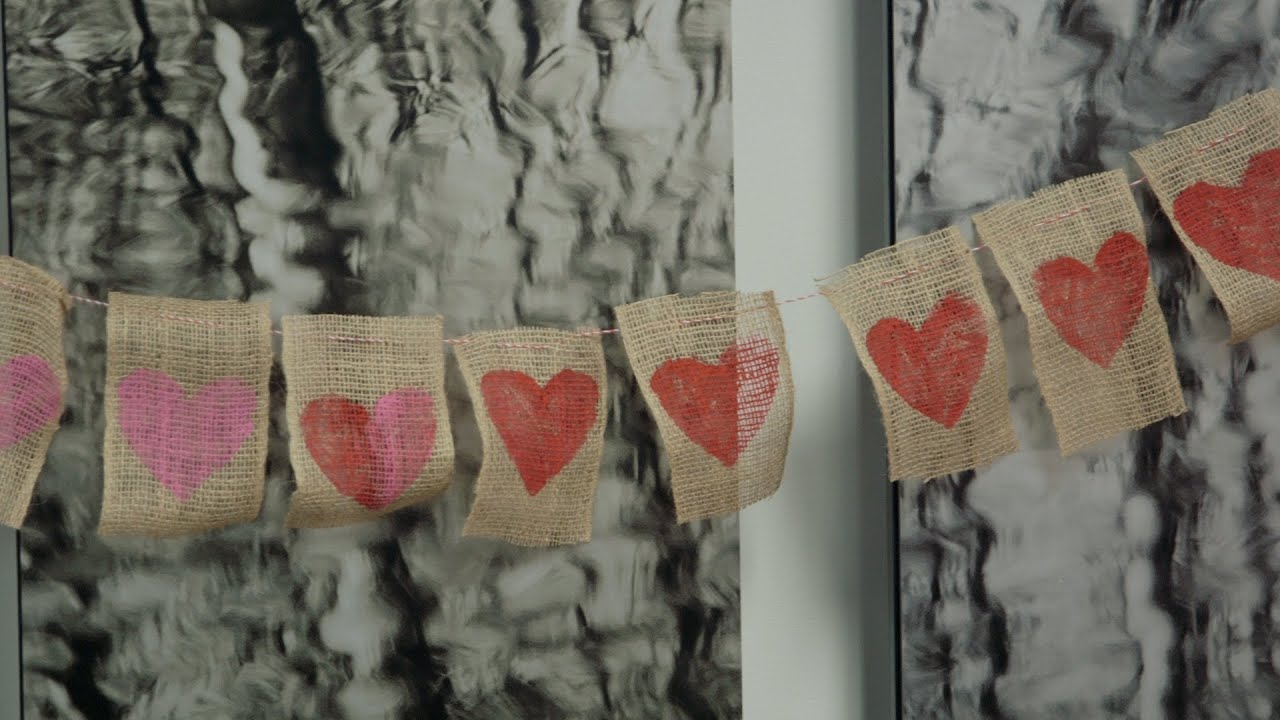 Diy Burlap Garland Valentine S Day Pure Romance Party Youtube